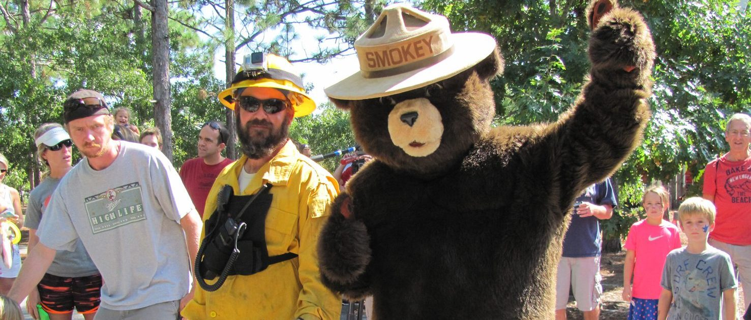 Smokey the Bear with the Fire Patrol
